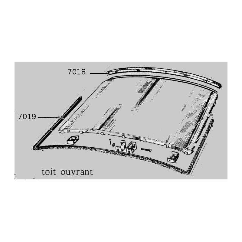longueur joint pourtour toit ouvrant 4cv. Black Bedroom Furniture Sets. Home Design Ideas